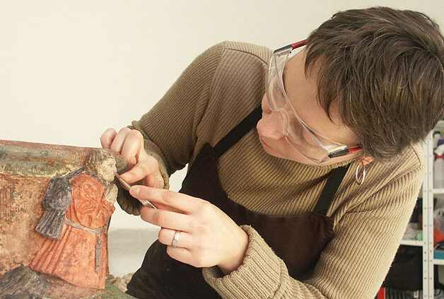 restauration sculptures à Dijon-Isabelle maquaire