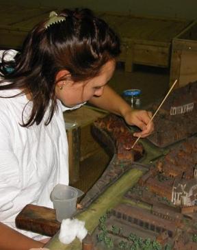 restauration d'art maquette- Isabelle Maquaire